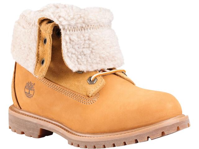 Timberland Authentics Teddy Fleece WP Fold-Down Boots Women wheat
